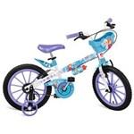 Ficha técnica e caractérísticas do produto Bicicleta Aro 16 Bandeirante Disney Frozen - Branco/Azul