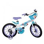 Ficha técnica e caractérísticas do produto Bicicleta Aro 16 com Rodinhas e Cestinha Frozen -Bandeirante