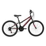 Ficha técnica e caractérísticas do produto Bicicleta Aro 24 Preta - Caloi