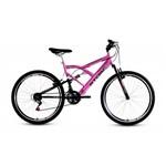 Ficha técnica e caractérísticas do produto Bicicleta Aro 26 Kanguru Gt - Pink - Stone Bike
