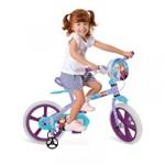 Ficha técnica e caractérísticas do produto Bicicleta Bandeirante Infantil Feminina Frozen - Aro 14 - Bandeirante