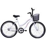 Bicicleta Feminina Aro 26 Beach Branca