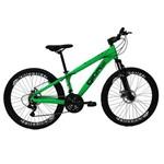 Bicicleta Frx Freeride Aro 26 Freio a Disco 21 Velocidades Câmbios Shimano Verde Neon - Gios