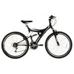 Bicicleta Track & Bikes, Aro 26, 18 Marchas, Dupla Suspensão, Preta - Tb 300