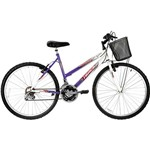 Bicicleta Track & Bikes Feminina Marbela 18-V Aro 26 Lilás Magenta