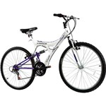 Bicicleta Track Tb 200Xs Aro 26 Aço 18 Marchas - Branco/Lilás Metálico