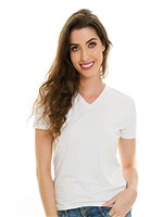 Ficha técnica e caractérísticas do produto Blusa Básica Decote V Branca