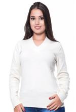 Ficha técnica e caractérísticas do produto Blusa Decote V Basica Branca