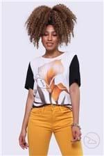 Ficha técnica e caractérísticas do produto Blusa Lança Perfume Shirt Calla Lily