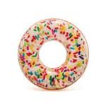 Boia Donut Branco com Granulado Colorido - Intex