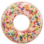 Ficha técnica e caractérísticas do produto Boia Donut Inflável Brigadeiro Branco