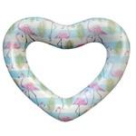 Boia Inflável Gigante Coração Flamingo