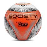 Bola Society S11 Pro Astro KO VIII Penalty - Branco/Laranja/Preto