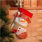 Bota Natalina Boneco de Neve Clássico 50cm - Orb Christmas