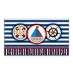 Cabideiro de Parede Porta Chaves Toalhas Marinheiro - Mar 4