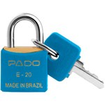 Cadeado Cores SM E-20mm Azul - Pado