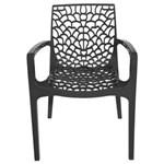 Ficha técnica e caractérísticas do produto Cadeira com Braços Gruvyer - PRETO