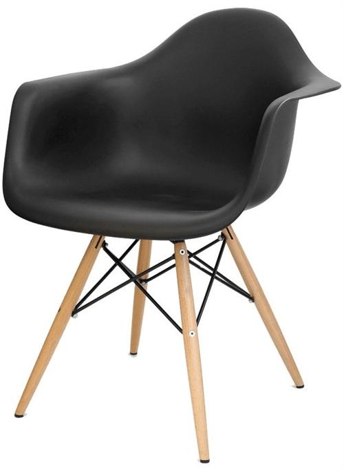 Ficha técnica e caractérísticas do produto Cadeira Eames com Braço Preta