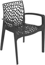 Ficha técnica e caractérísticas do produto Cadeira Gruvyer com Braço Preto OR Design