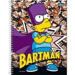 Caderno Universitário Capa Dura Tilibra Simpsons Bartman - 96 Folhas