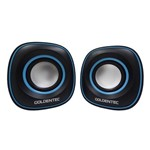 Ficha técnica e caractérísticas do produto Caixa de Som 6.0w Rms Gt Sound 2.0 Preto/Azul - Goldentec - Hp
