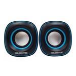 Ficha técnica e caractérísticas do produto Caixa de Som 6.0W Rms Goldentec Gt Sound 2.0 Preto e Azul