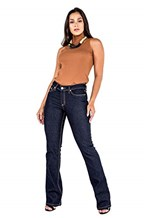 Ficha técnica e caractérísticas do produto Calça Boot Cut Feminina Jeans