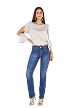 Ficha técnica e caractérísticas do produto Calça Boot Cut Feminina Tradicional Jeans