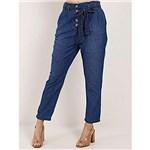 Ficha técnica e caractérísticas do produto Calça Clochard Jeans Feminina Azul 42