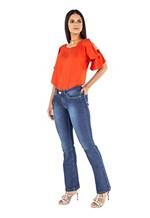 Ficha técnica e caractérísticas do produto Calça Feminina Boot Cut Tradicional Jeans