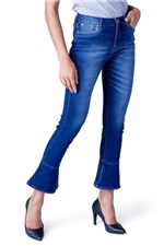 Ficha técnica e caractérísticas do produto Calca Jeans Boot Cut Equivoco Lurdes