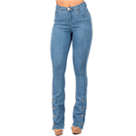Ficha técnica e caractérísticas do produto Calça Jeans Edex Boot Cut Modeladora. 36