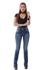 Ficha técnica e caractérísticas do produto Calça Jeans Flare Boot Cut - 252711 - Sawary