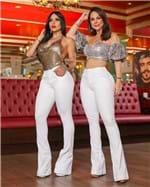 Ficha técnica e caractérísticas do produto Calça Jeans Flare Cintura Alta 2020 (36)