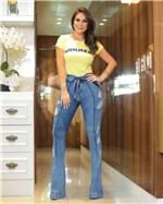 Ficha técnica e caractérísticas do produto Calça Jeans Flare Cintura Alta 2325 (36)