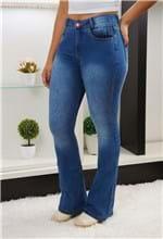 Ficha técnica e caractérísticas do produto Calça Jeans Flare Escura MC / 34