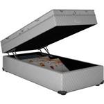 Cama Box Baú Solteiro Somopar Roma Branco Molas Bonel - 88x188x56cm