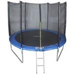 Cama Elastica 3,05m Pula Pula Trampolim Premium 305cm Tssaper + Escada + Rede