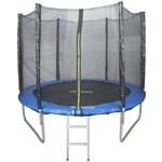 Ficha técnica e caractérísticas do produto Cama Elastica 2,44m Pula Pula Trampolim Premium 244cm Tssaper + Escada + Rede