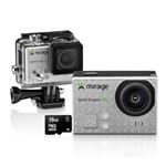 """Ficha técnica e caractérísticas do produto Câmera de Ação Sport 4K/Cartão 16GB LCD 2"""" 16MP MR3001 Prata - Mirage"""