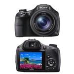 "Ficha técnica e caractérísticas do produto Câmera Digital Sony DSC-HX400 Preta - 20.4 MP, LCD 3.0"", Zoom Óptico 50x, Lentes Carl Zeiss, Foto 3D, Menu Diversão, Wi-Fi, NFC e Vídeo Full HD"