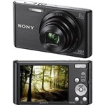 """Câmera Digital Sony Dsc-W830, 20.1MP, Tela 2.7"""", Zoom Óptico 8x, Filma em Hd, Foto Panorâmica,"""