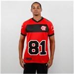 Ficha técnica e caractérísticas do produto Camisa Braziline Flamengo Futebol Americano - P - Vermelho