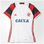 Ficha técnica e caractérísticas do produto Camisa Feminina Flamengo Adidas Branca 2017
