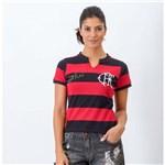 Ficha técnica e caractérísticas do produto Camisa Feminina Flamengo Tri Zico - Braziline