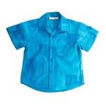 Ficha técnica e caractérísticas do produto Camisa Jacar com Bolso - Azul - G