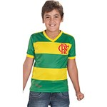 Camiseta Infantil Braziline Flamengo Verde e Amarela