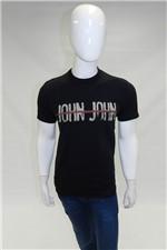 Ficha técnica e caractérísticas do produto Camiseta John John Split John Preto Tam. G