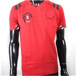 Ficha técnica e caractérísticas do produto Camiseta Masculina com Bolso Antshok - P - Vermelho