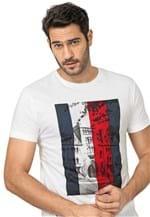 Ficha técnica e caractérísticas do produto Camiseta Tommy Hilfiger Estampada Branca